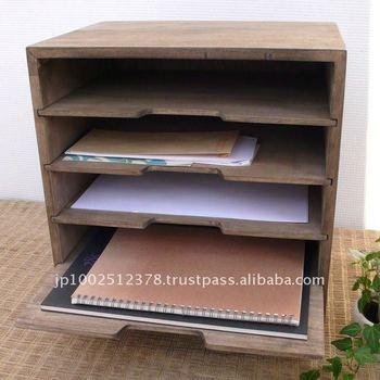 Delightful Wooden File Organizer And Storage Rack