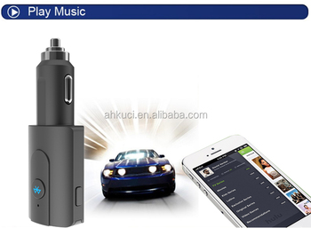 Bluetooth car kit FM transmitter USB car charger with hands-free calling