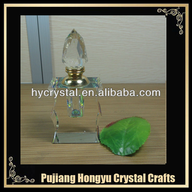 2017 most special shape custom 6ml refillable crystal perfume bottle