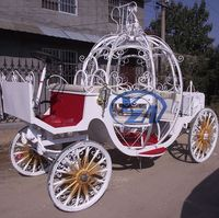 Electric Cinderella carriage with LED lights wedding pumpkin wagon