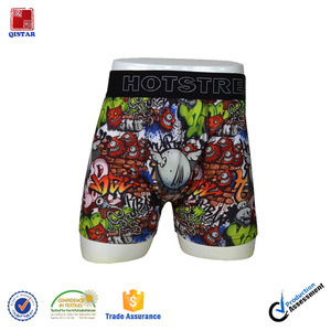 High Quality Sublimation Print Trendy Boys Boxer Underwear/ Funny Printing Boxers For Boy
