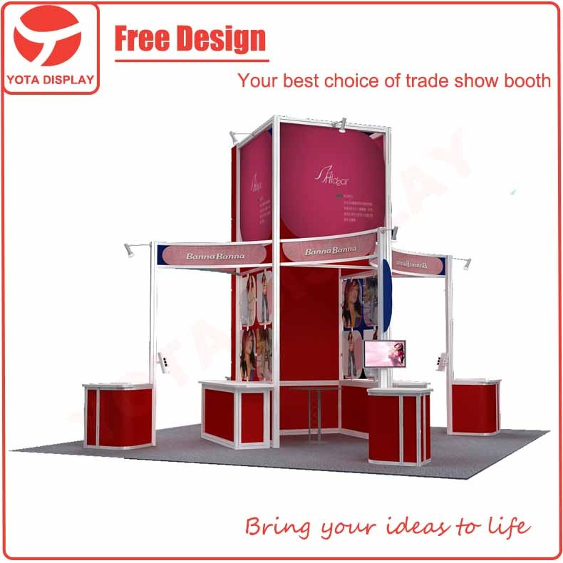 Yota 20X20 or 6X6 exhibition system booth jewelry exhibition stand design