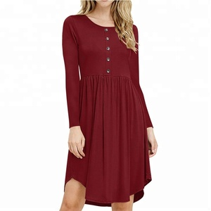 New arrival one piece stylish xxl size women casual dress for oem