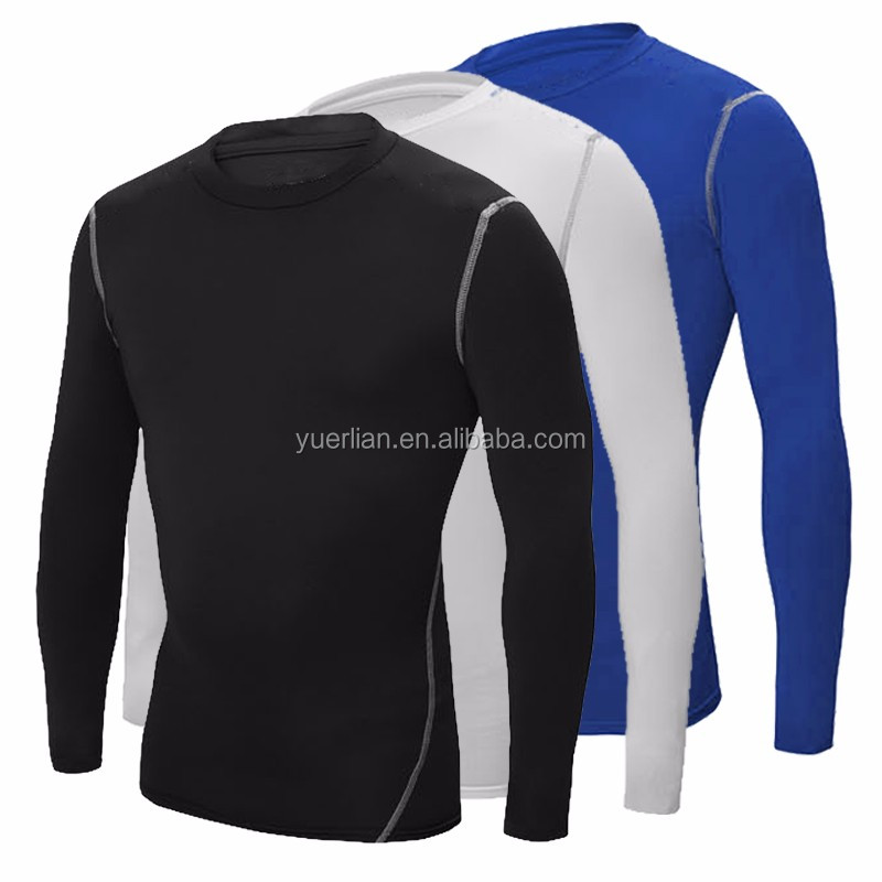 high quality fitness long sleeves basketball sportswear spandex gym wear for men 1019