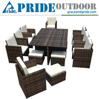 Garden Modern Kitchen Portable Coffee Dinning Table Set With Chairs
