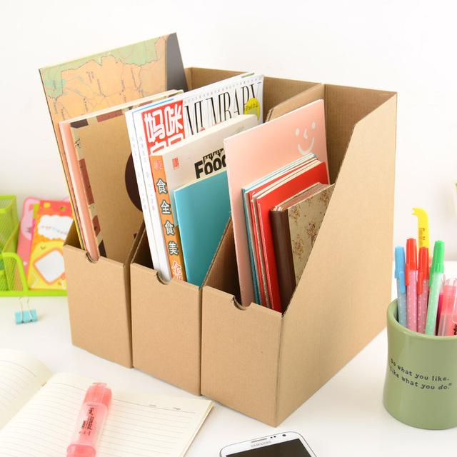 simple classique de bureau magazine livres papier bo te de rangement bureau organisateur. Black Bedroom Furniture Sets. Home Design Ideas
