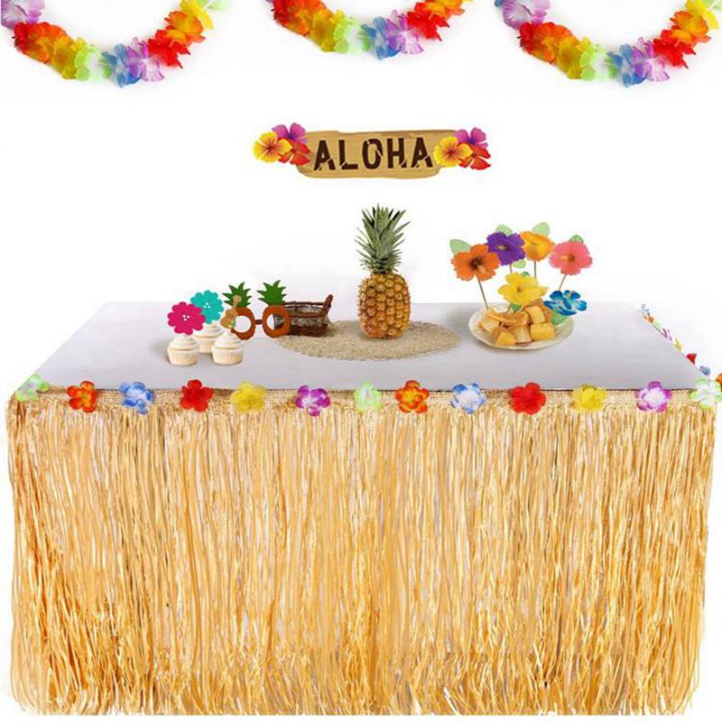 Fengrise Kunstmatige Simulatie Blad Hawaii Luau Party Decoratie