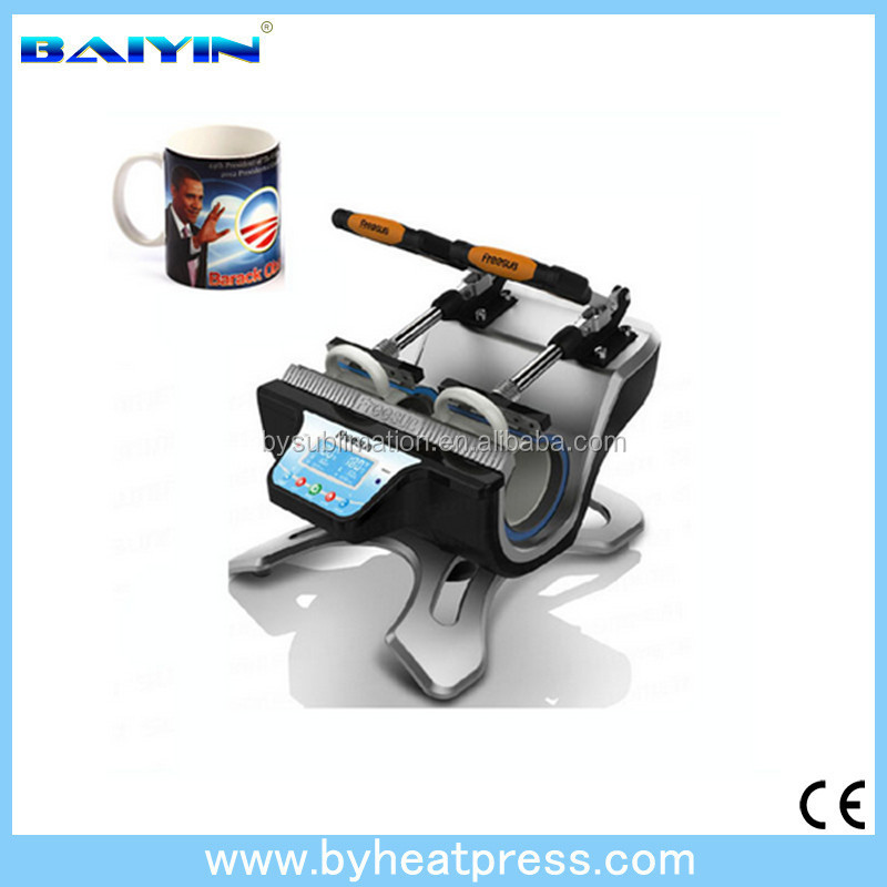 Multi-function Double ST120 Mug Press Machine Portable Mini Heat Transfer Machine for 2 Cups One Time