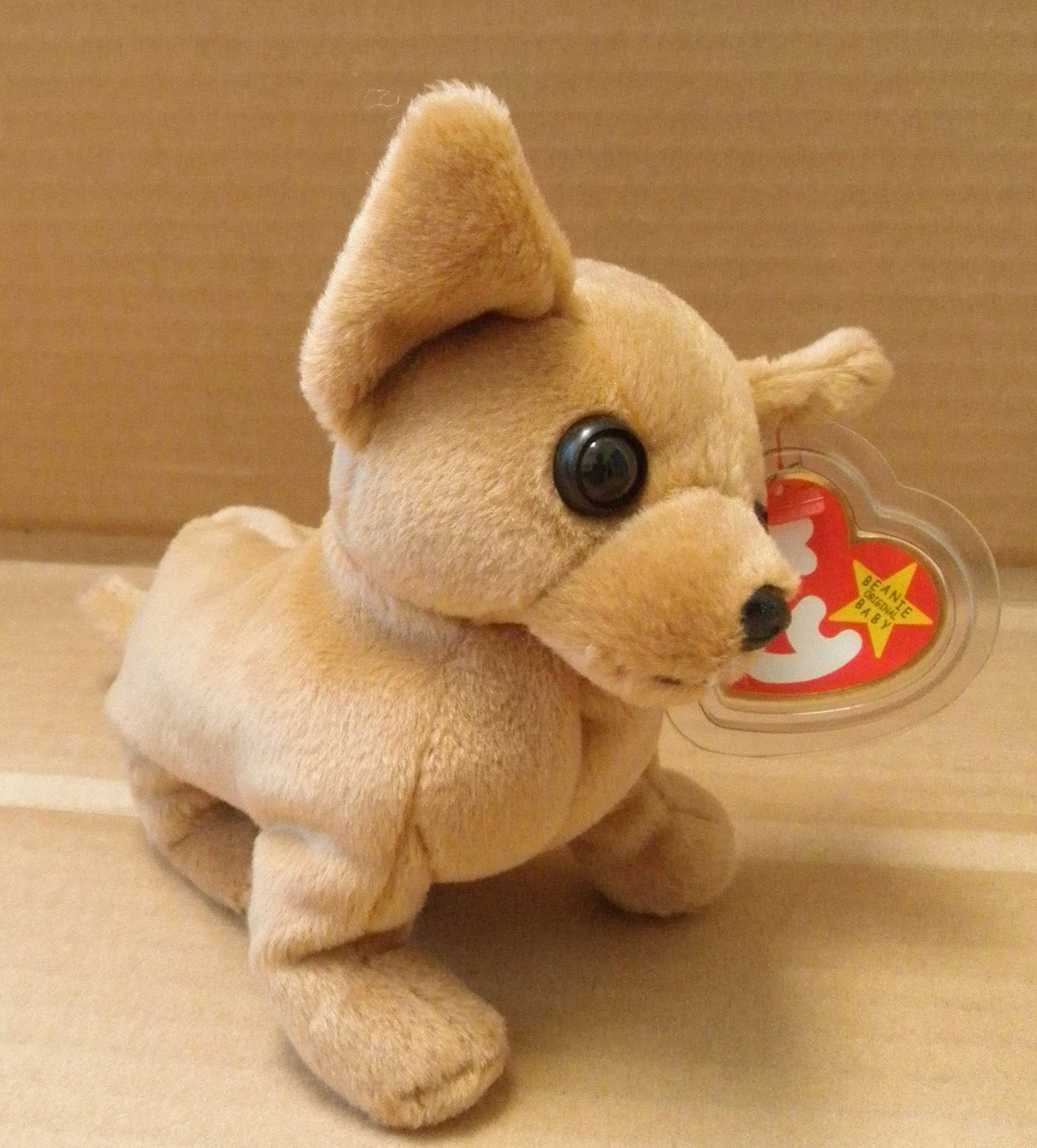 f66a12513b0 TY Beanie Babies Tiny the Chihuahua Dog Stuffed Animal Plush Toy - 6 inches  long