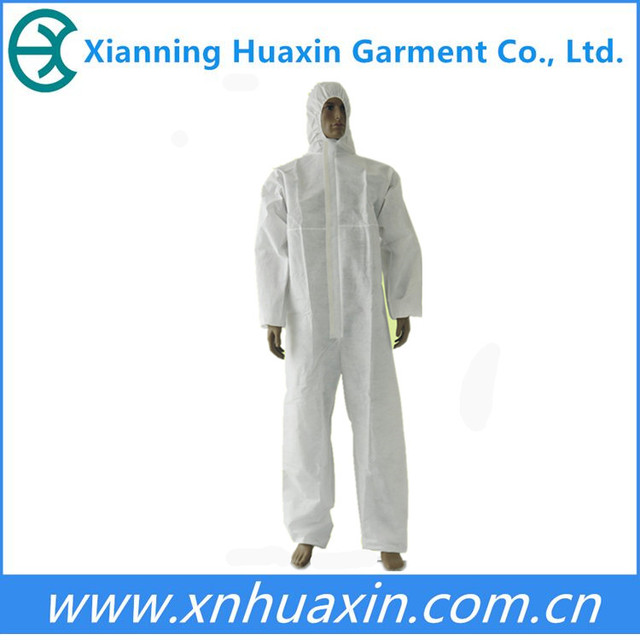 Hooded disposable EN1073 coverall