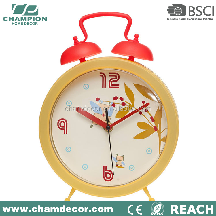 Plastik Bel Twin Kuarsa Mini Jam Alarm China Fly Bicara