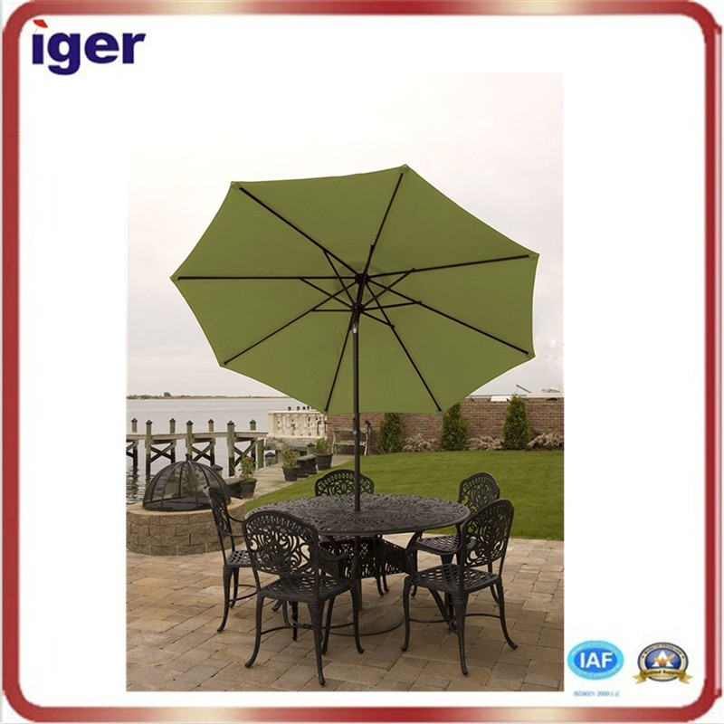 Hot sale polyester fabric garden table umbrella decoration
