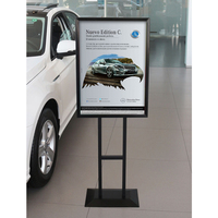hotel display sign stand free standing poster board sidewalk poster board