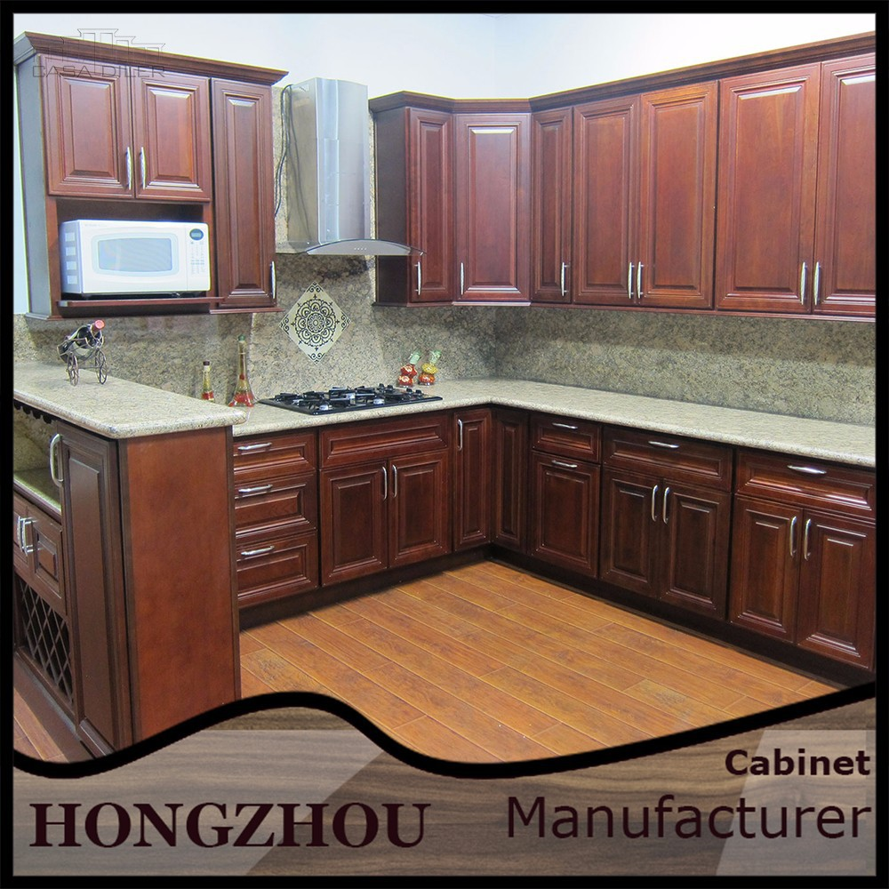 Kitchen Cabinets European Style: European Style Wood Red Oak Kitchen Cabinets With Free