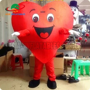 Hot selling heart shape mascot costume, new design costume, cheap heart mascot for adult