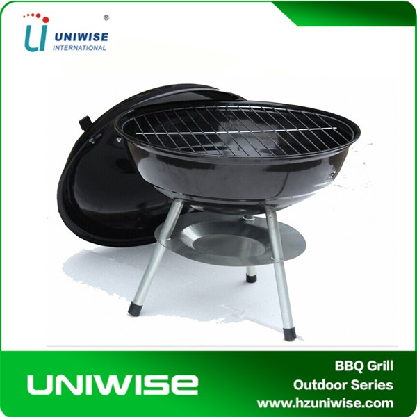 Weber Portable Charcoal Barbecue BBQ Kettle Grill, Steel & Chrome
