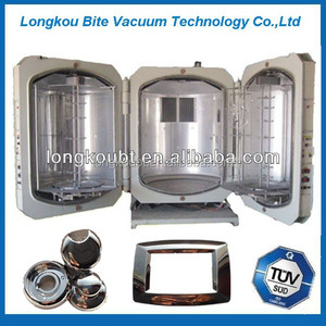 Vacuum resistance evaporation plating machine for plastic parts