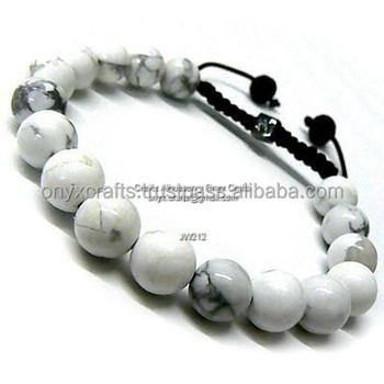 White Marble Bracelets - Buy Natural White Crystal Bracelet e379bb424
