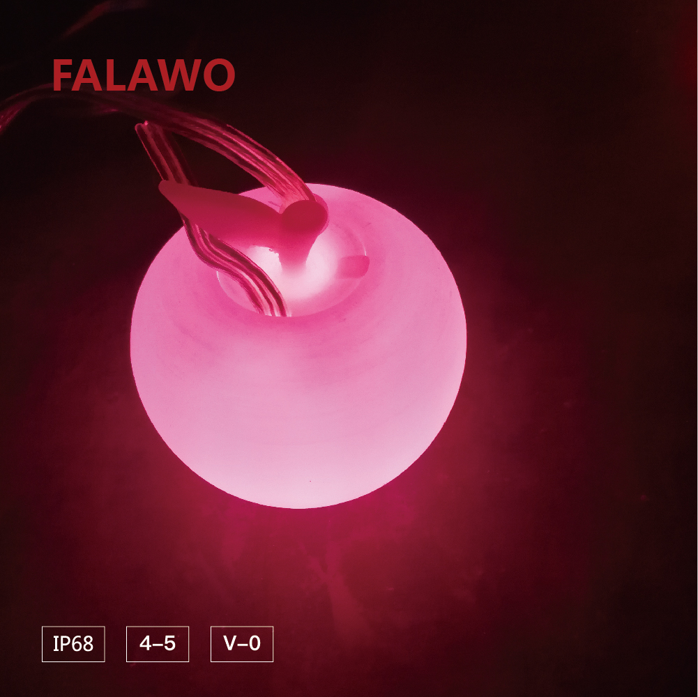 Falawo RGB apple IP68 LED underwater outdoor fashion light string