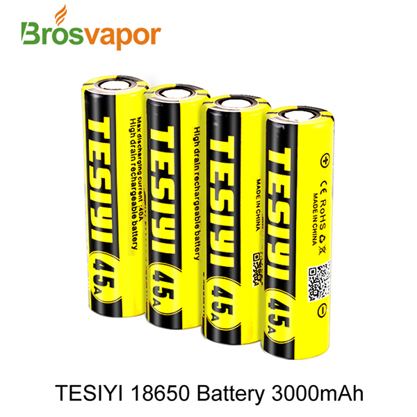 Professional Vape Battery Tesiyi 18650 3000mah 45A battery 3.7V rechargeable battery