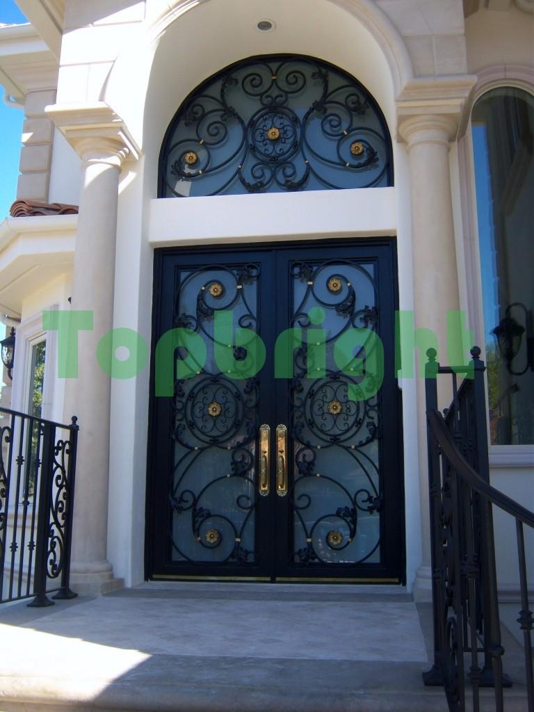 Exterior Wrought Iron Doors Steel Main Grill Door Design