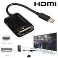 Type C USB 3 1 Male to HDMI Female 1080P HDTV Adapter Cable For Macbook Laptop