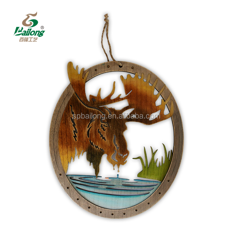 15 years factory laser cut animal shape flamingo moose deer wood wall art home decoration