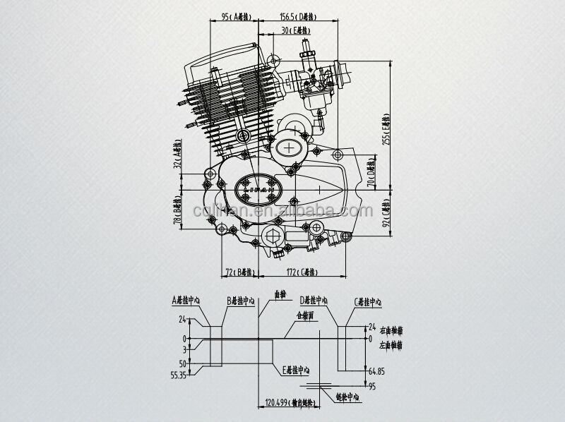 149cc motorcycle engine with balance shaft inside