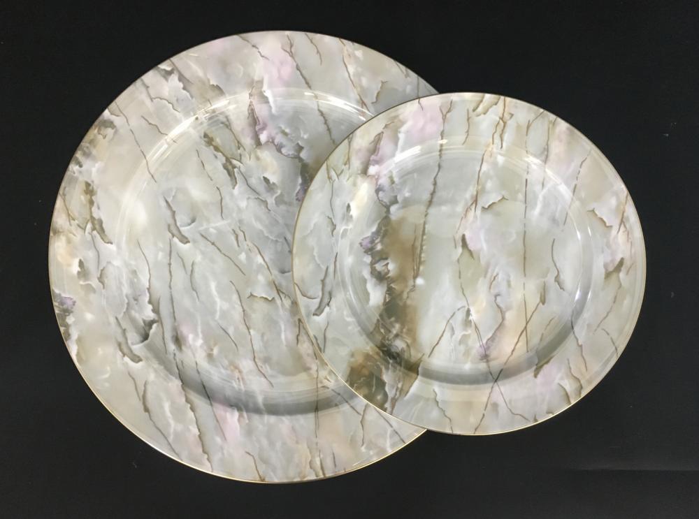 dinner plates marble