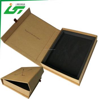 Luxus Benutzerdefinierte Kraftpapier Karton Schmuck Box Und