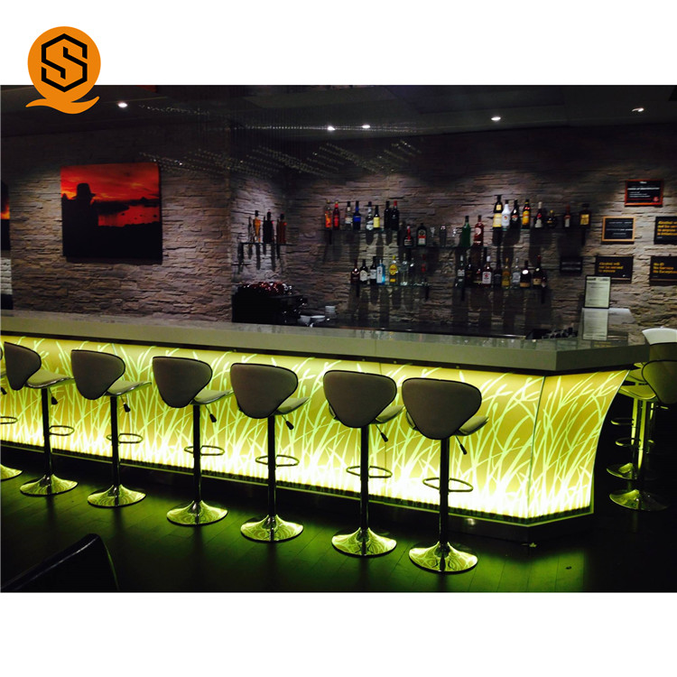 Superseptember Luxus bar zähler Corians acryl stein led licht bar tisch