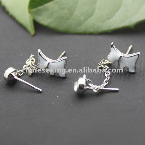 fashion enamel agatha stud earrings, fashion alloy earring, fashion animal jewelry