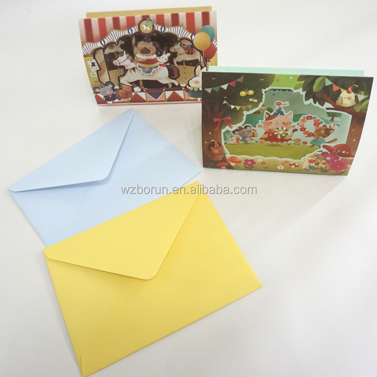 China cheap calendar printing handmade decoration happy birthday 3d greeting card printing