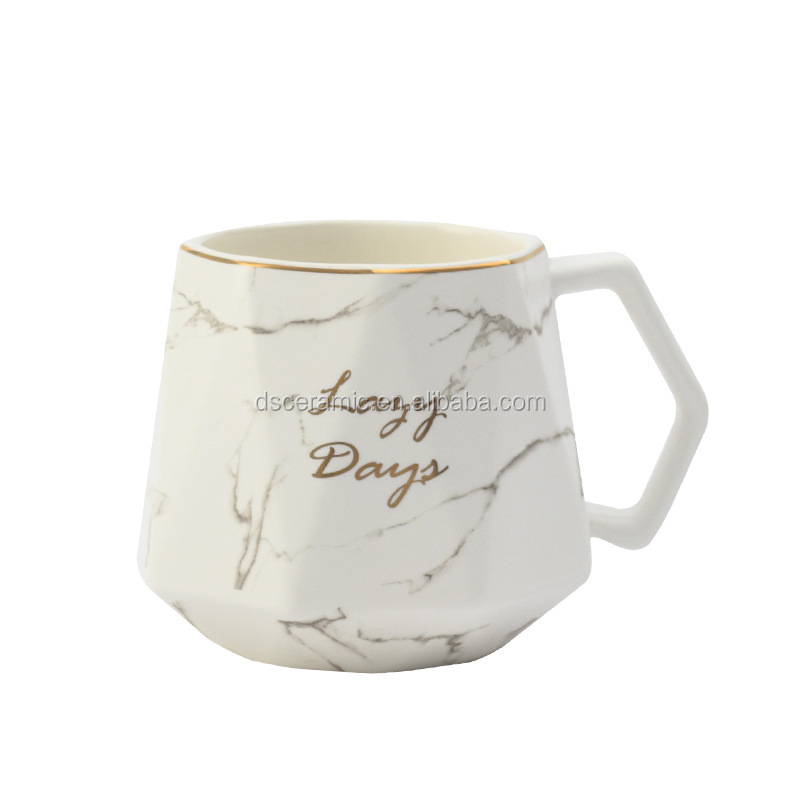 white black custom marble ceramic porcelain tea coffee Mug