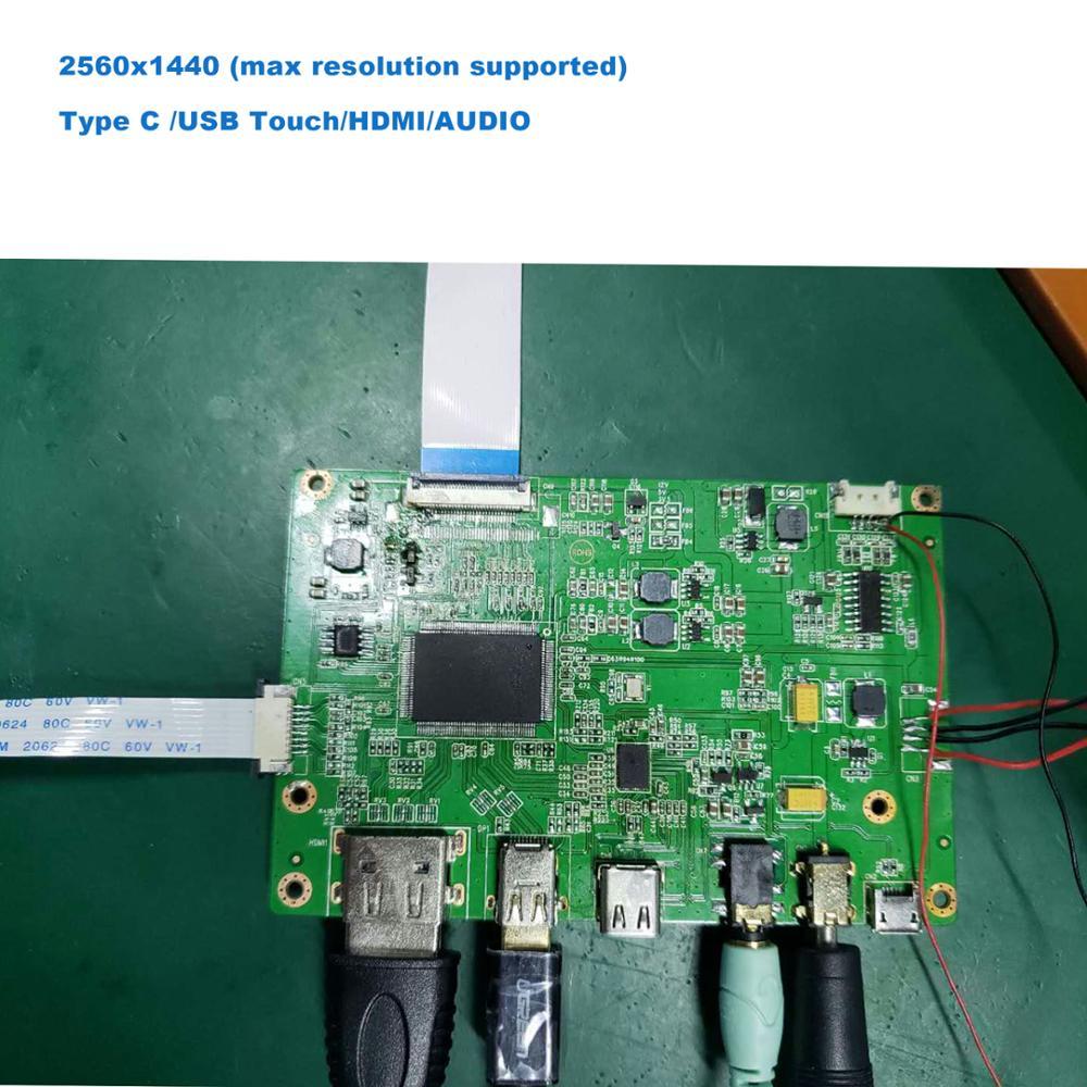 EDP 40pin 30pin لوحة 2560x1600 2 كيلو نوع-C تحكم مجلس مع