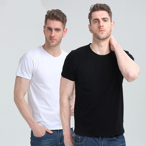 OEM custom 100%cotton slim fit t shirts round neck t-shirt white wholesale blank jerseys tee for men unbranded product