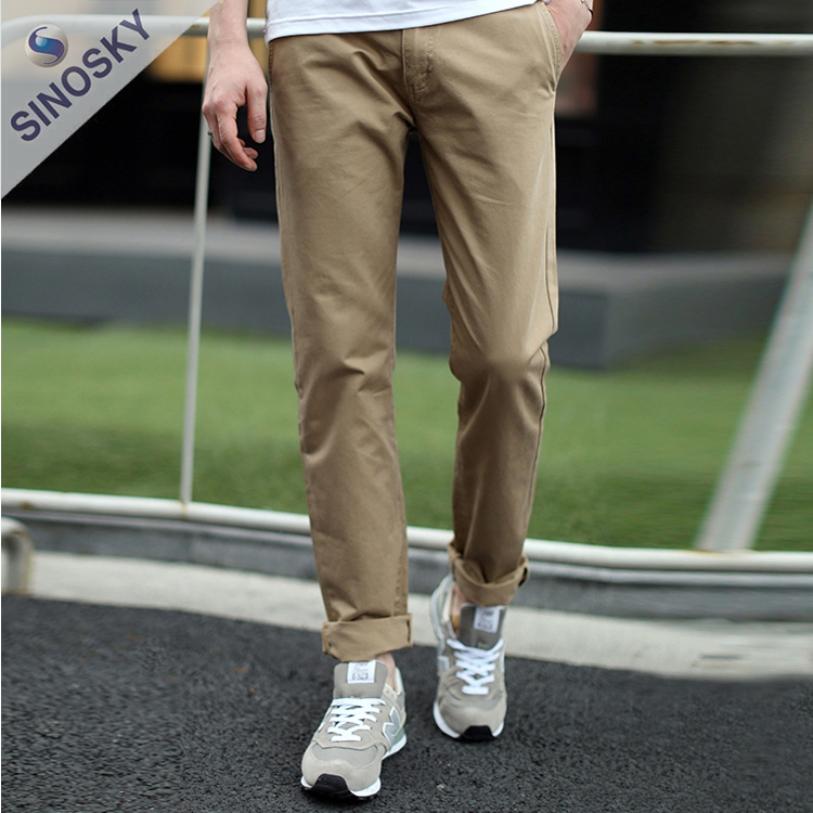 2017 Wholesale Fashion Slim fit trousers for men, golf trousers sports trousers