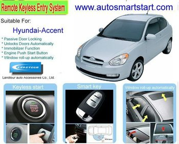 Keyless Go Button Start Remote Control Car Starter Upgrade Car Alarm