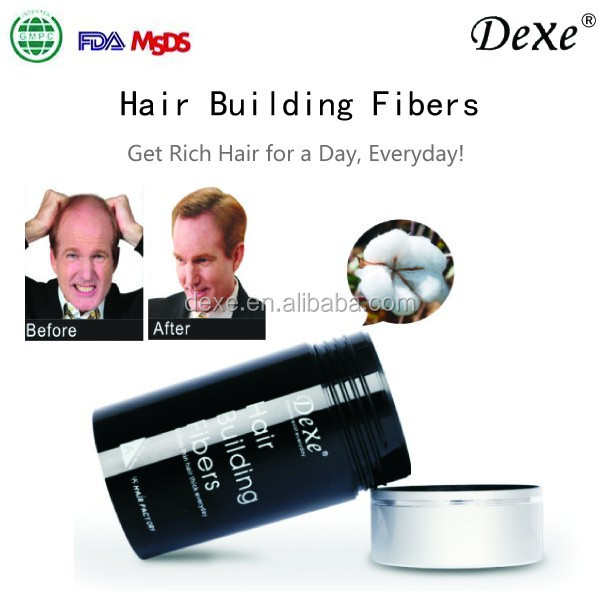 Manufacture natural hair care cotton hair building fibers powder