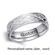 Каканы кольца из нержавеющей стали для женщин блестящие стильные персонализированные украшения из нержавеющей стали оптом № R18(Китай)