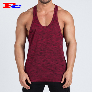 Custom Men Gym Stringer Singlet Quick Dry Polyester Sports Tank Top