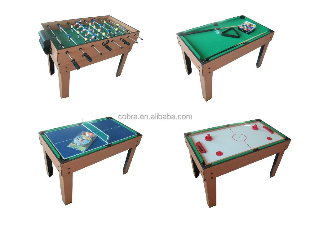 Kbl 0909m Top Grade 4 In 1 Multi Game Table,5ft Soccer Table With 15.8mm  Solid Rods,Mini Size Pool Table,Table Tennis Table   Buy 4 In 1 Game Table,Mini  ...