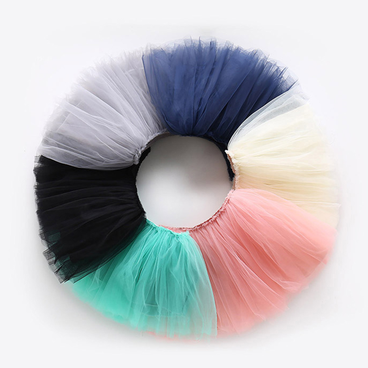 Wholesale sweet 3 layers kid girl's tulle tutu skirt