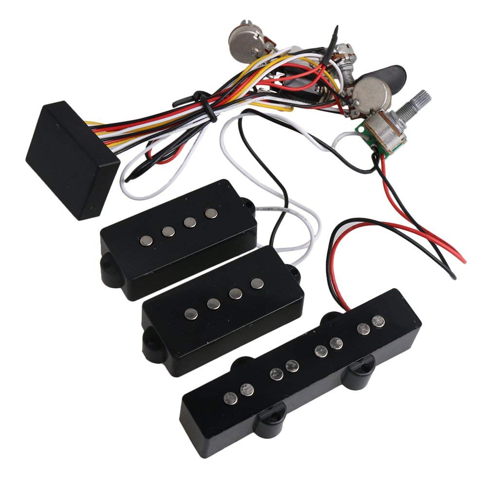 Buy Generic Active Preamp 3 Band Equalizer Eq Harness Guitar Bass 7 Wiring Diagram Yibuy 4 Controls For P J Pickup Set