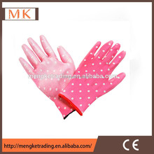 hot sell color pu palm gloves for safety work