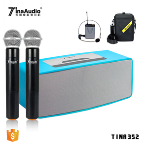 Unique design microphone professional blue tooth loudspeaker audio pa karaoke speaker line array sound