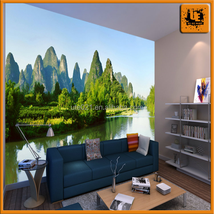 shanghai glossy pp/nonwoven/pvc wallpaper for decoration