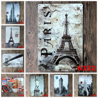 Wholesale Statue of Liberty London Eiffel Tower Paris Nostalgic Tin Sign Retro Wall Decor Vintage Craft Art Home Pub Bar Decor
