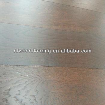 Dark Color Finished Ash Multilayer Engineered Wood Flooring