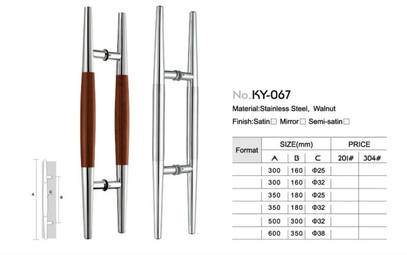 Ky 176 Stainless Steel Sliding Glass Door Handle Buy Sliding Glass
